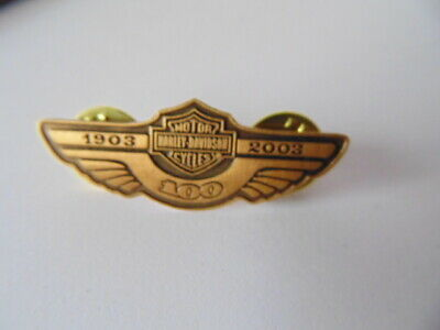 HARLEY-DAVIDSON PINS BADGE COLLECTOR  H-D  1903 2003 100th ANNIVERSARY