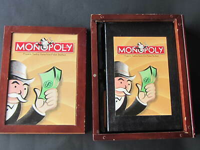 Vintage Monopoly Game Collection Bookshelf Wood Box Series Parker Brothers