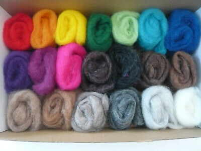 Heidifeathers® 'Rainbow Cloud' + 'Menagerie' Mix - Carded Sliver Felting Wool