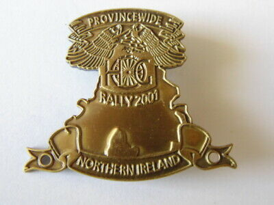 Harley Davidson Pins Badge Hog Province Wide Chapter Northern Ireland Rally 2001