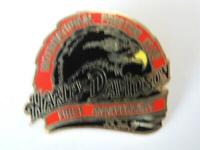 HARLEY DAVIDSON PINS BADGE COLLECTOR INTERNATIONAL PRESTIGE CLUB 1sd anniversary