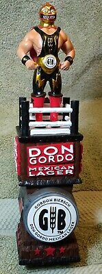 "beer tap handle gordon biersch Don Gordo Lucha Libre  10.5""   new in box"