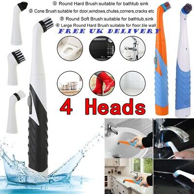 On sale! 4in1 Electric Sonic Scrubber Cleaning Brush Household for Bath, Kitchen