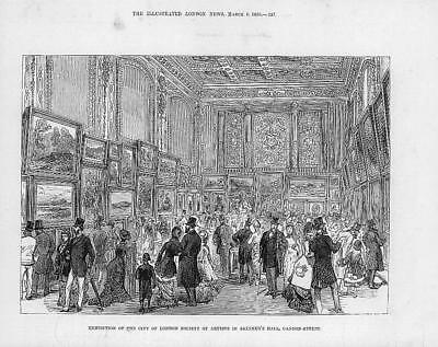 1880 Antique Print - LONDON CANNON-STREET Skinners Hall Society Artists  (51)