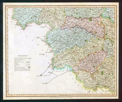 1831 - YORKSHIRE WEST RIDING Antique LARGE COLOURED TWO Maps by HENRY TEESDALE