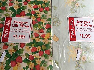 Vintage Designer Gift Wrap All Occasion Wrap Lot of 2