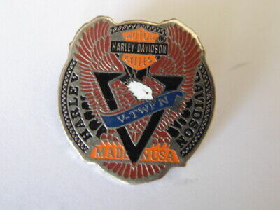 Harley Davidson Pins Badge Official Collector Hd V-Twin