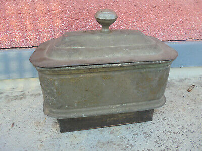31906 Ofenschiff Herd Messing vernickelt 23cm 1900 original Zustand oven can