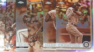 2019 Topps Chrome Sepia Refractor Singles - Pick From Drop Menu