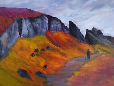 Original Oil Painting Of Welsh Mountains By Artist Christine Ingram