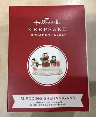 New Hallmark 2019 KOC Convention Exclusive SLEDDING SHENANIGANS REPAINT Ornament