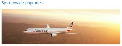 AMERICAN AIRLINES AA SYSTEMWIDE UPGRADE  FLY FIRST CLASS International Domestic