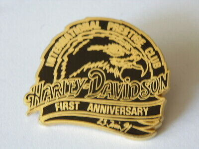 HARLEY DAVIDSON PINS HD BADGE COLLECTOR INTERNATIONAL PRESTIGE CLUB 1st 1991
