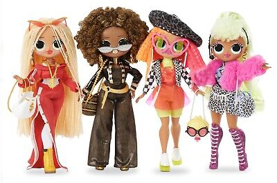 LOL Surprise OMG Fashion Dolls Setof4 SWAG LADY DIVA NEON ROYAL BEE,  IN HAND