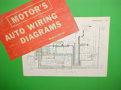 1963 1964 1965 1966 1967 Vw Volkswagen Karmann Ghia Beetle Wiring Diagrams