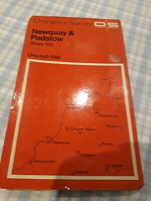 Vintage 1966 Ordnance Survey Map Of Newquay & Padstow