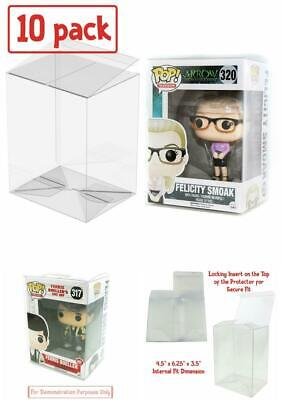 """10-pack Clear Protector Case for 4"""" FUNKO POP! Vinyl Figures, Peel and Lock"""