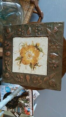 Art Nouveau Copper Framed Tile