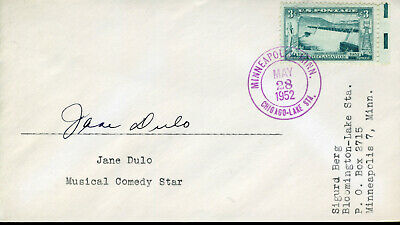 Jane Dulo Get Smart & Andy Griffith Show Actress  Signature 1952