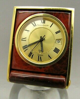 Hermes By Jaeger Lecoultre Travel Alarm Clock Vintage Watch C 1960-70