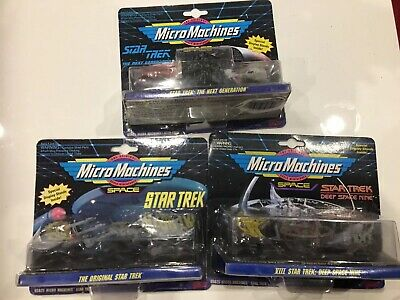 Mixed Lot Of Galoob Micro Machines Star Trek Vessels All Sealed On Cards 3 Sets