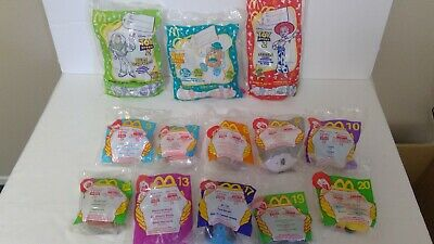 Mcdonalds 1999 Unopened Pixar Toy Story 2 toys (10 toys + 3 Candy Dispensers)