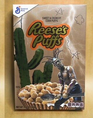 Travis Scott Cactus Jack Reeses Puffs Cereal AstroWorld Tour Sold Out Authentic