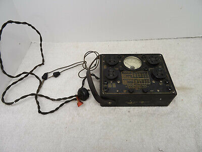 Vintage Tube Tester- Burton Rogers- The Radio Products Co