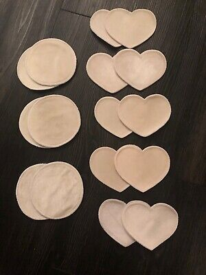 Bamboobies Pads For Nursing Breastfeeding Set Of 8 Pairs Nude Color