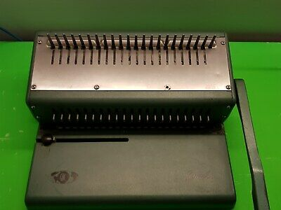 S/H Spiral Comb Binding Machine 21 Hole BUYER MUST COLLECT SURRY HILLS NSW