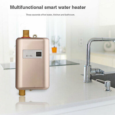 Mini Instant Electric Tankless Hot Water Heater Kitchen Bathroom Sink Tap Safe