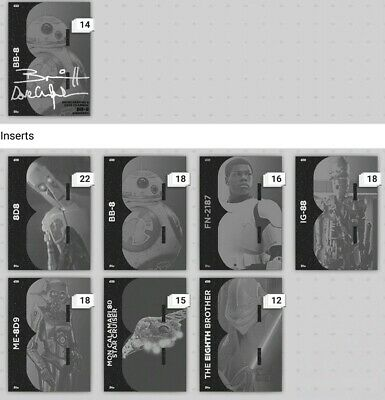 Topps Star Wars Card Trader The Gr8s Grayscale Set W/ signature Digital