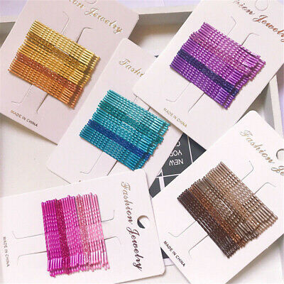 24pcs Candy Color Hair Clips Bobby Pins Accessories Wavy Hairpins Barrettes Lots