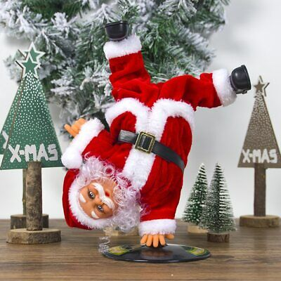 Electric Inverted Street Dance Santa Claus Music Christmas Ornament Kids Toys AU