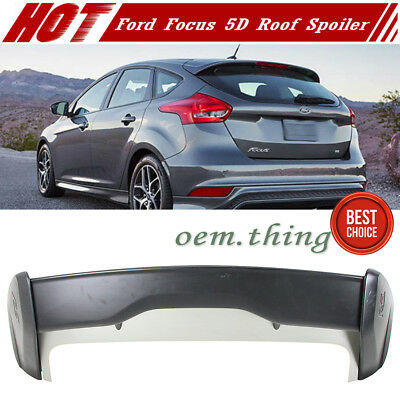 Unpaint For Ford Focus MK3 Hatchback RS Style Rear Trunk Spoiler ST SEL 2017