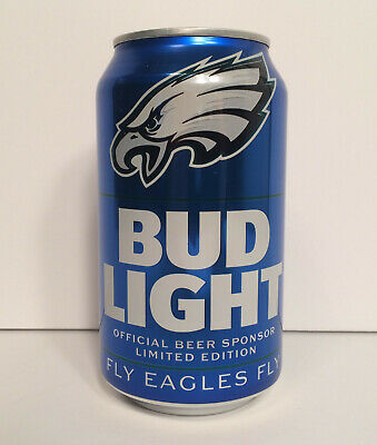 2019 PHILADELPHIA EAGLES BUD LIGHT LIMITED EDITION 100th YEAR NFL BEER CAN