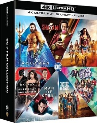 DC 7 Film Collection Shazam + Aquaman + Justice League New 4K Mastering Blu-ray