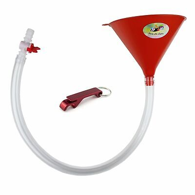 Beer Bong with Valve - Premium Beer Funnel - Extra Long 2.5 feet 30 inch Kink...