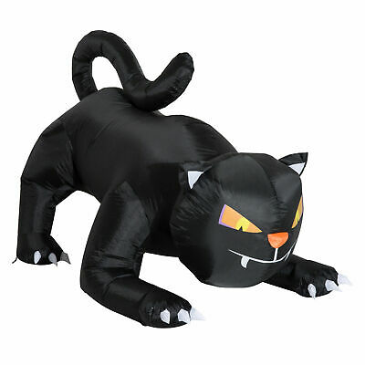 Inflatable Black Cat 1.2m 3 LED Halloween Decoration Indoor Outdoor Party Use