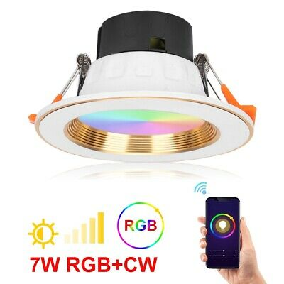 7W Regulable WiFi 2.4GHz Downlight Panel LED Empotral Redondo Circular RGB + CW
