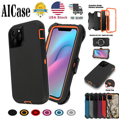 Shockproof Hybrid Heavy Duty Case W/ Belt Clip Stand Cover For iPhone 11 Pro Max