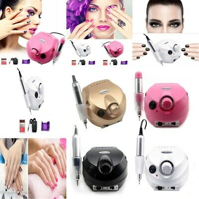 Pro Manicure Pedicure Tool Electric Drill File Nail Art Machine Kit 35000 RPM