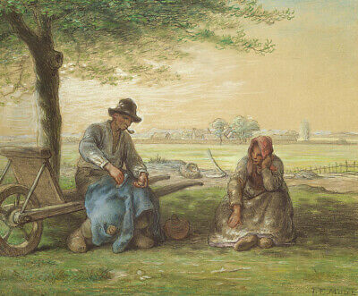 Peasants Resting Jean-Francois Millet Fine Art Print on Canvas Painting Giclee S
