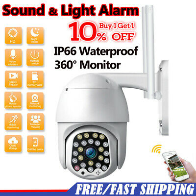 1080P HD IP66 CCTV Camera Waterproof Outdoor WiFi PTZ Security Wireless IR Camra