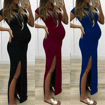 Women Pregnant Long Maxi Dress Maternity Gown Party Pregnancy Photography Props