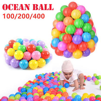100 Color Plastic Ball Pit Balls Crush Proof Ocean Ball Toy Paly Games for Kids
