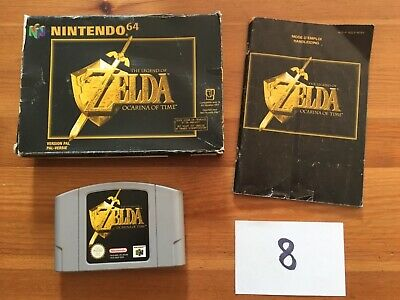 The legend of Zelda Ocarina of time Nintendo 64 N64 - Boite Notice.