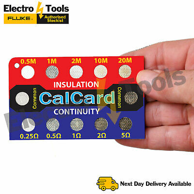 CalCard Electricians Tool Tester Insulation/Continuity Calibration BOX MUST HAVE