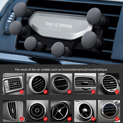 Gravity Car Air Vent Mount Cradle Holder Stand for iPhone Smart Mobile Phone GPS