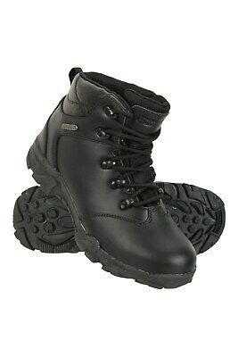 Mountain Warehouse Boys Boots and Breathable Mesh Lining with Deep Lugged